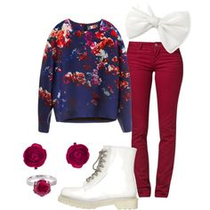 Floral Fall. Just with different shoes!