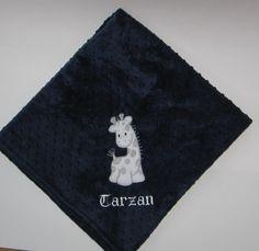 Personalized Baby Blanket, Giraffe Blanket, Toddler Blanket, Zoo, Minky Baby Blanket, Color Choice, Custom Baby Bedding, Custom Baby Blanke