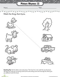 rhyming worksheets for preschoolers | matching-rhyming-words-phonics-preschool.png