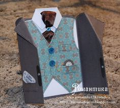Romance: Elegant men's card for true gentlemen