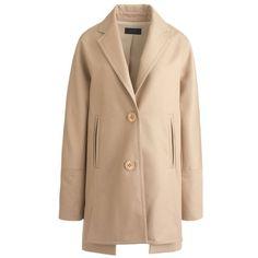 Spread-Collar Wool Zip Coat   Wardrobe   Pinterest   Coats, Wool ...