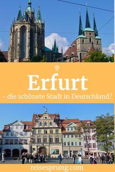In Erfurt findest du faszinierende Architektur aus unterschiedlichen Epochen, eine lebendige Kneipen- und Restaurantszene sowie eine traumhaft schöne Umgebung. Dabei ist die Stadt klein genug um entspannt zu sein und groß genug, so dass sie alles bietet, was du von einem Städteurlaub erwartest. #UrlaubDeutschland #ReiseThüringen #StädtetrippErfurt #ReisetippsErfurt