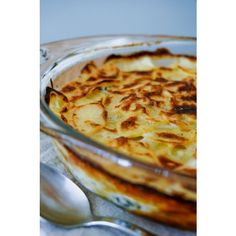 French Scalloped Potatoes (Gratin Dauphinois) Recipe ❤ liked on Polyvore featuring home, kitchen & dining, cookbooks, french cookbook and recipe cookbook