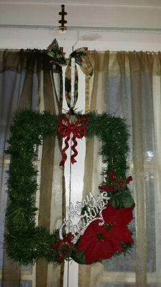 Made this modern wreath :)