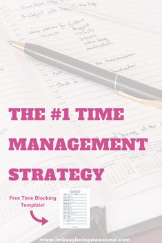 The Number One Strategy for Time Management, Time Blocking, organization, Productivity, Work Life Balance #TimeBlocking #organization #Productivity #WorkLifeBalance #bulletjournal