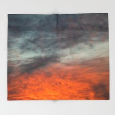 Fire after the storm. Throw Blanket