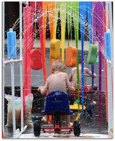 PVC Backyard Bike Carwash - How much fun would this be?????