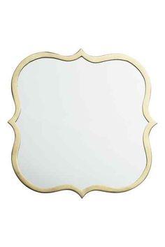 Miroir contour dor zara home d corations de miroirs et for Miroir zara home