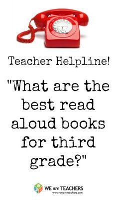 Teacher Helpline: What Are The Best Read Aloud Books for Third Grade? Student Teaching, Teaching Reading, Teaching Time, Teaching Ideas, 3rd Grade Classroom, Classroom Ideas, Future Classroom, Classroom Organization, Teaching Portfolio