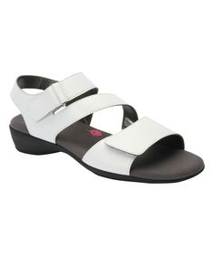White Marilyn Leather Sandal