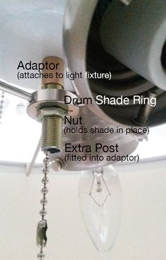 Add A Drum Shade To Ceiling Fan