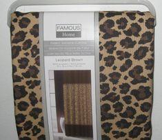 Famous Home Leopard Print Brown Fabric Shower Curtain #FamousHome #Amazon #UnderTheRoofTreasures #LeopardPrint
