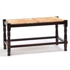 Mahogany Rush Seat Bench at Kirkland's