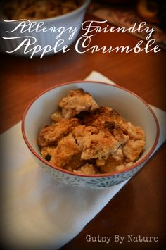 "Whether you call it it a crumble or a crisp or ""lazy person's version of apple pie,"" you are sure to love this allergy friendly AIP apple crumble and be proud to serve it to anyone, regardless of their dietary restrictions... or lack of!"