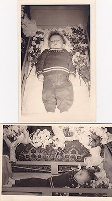 Two Vintage Post-Mortem Photographs Of Little Boy - Memento Mori - Mourning in Collectables, Photographic Images, Contemporary (1940-Now) | eBay!