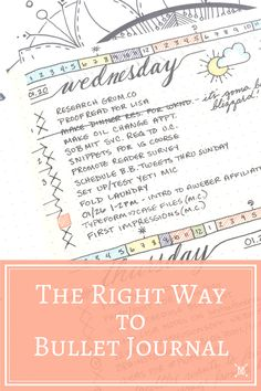 The Right Way to Bullet Journal