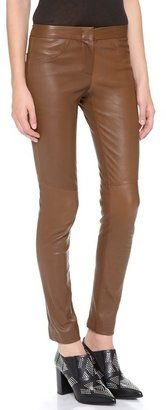 A.L.C. - Leather Misa Pants #15Things #fashion #style #trending #brown #leather #pants #ALC