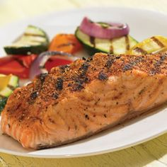 Spice Up Summer Recipes; Chicken and Fish Crispy Jalapeno Honey Chicken with Tomato-Corn Confetti Ultimate Sweet and Spicy Grilled Salmon Shrimp Bruschetta Salmon Recipes, Fish Recipes, Seafood Recipes, Cooking Recipes, Healthy Recipes, Healthy Meals, Eating Healthy, Healthy Living, Recipes