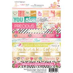 Webster's Pages Beautiful Chic by Adrienne Looman Word Sticker