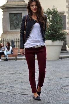 burgundy-black-white