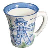 Hadley Pottery Scarecrow Flare 12 oz. Mug