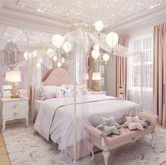 Kids Bedroom Designs, Room Design Bedroom, Room Ideas Bedroom, Home Room Design, Kitchen Design, Luxury Kids Bedroom, Pink Bedroom Decor, Girls Bedroom, Dream Rooms