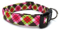Adjustable Dog Collar in Brown  Pink Argyle Corduroy USA Made *** Be sure to check out this awesome product.(This is an Amazon affiliate link)