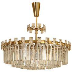 J.&L. Lobmeyr Chandelier Designed by Oswald Haerdtl, Vienna circa 1951 | From a unique collection of antique and modern chandeliers and pendants  at https://www.1stdibs.com/furniture/lighting/chandeliers-pendant-lights/