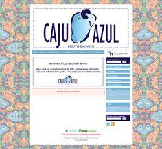 Cantinho do blog Layouts e Templates para Blogger: Personalização de loja Ilúria Caju Azul