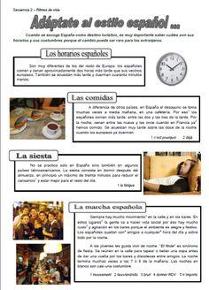 Rutina diaria en España - Ficha de Baptiste 1