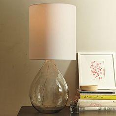 west elm glass jug table lamp