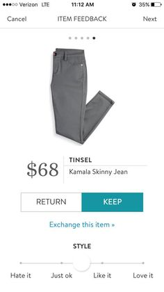 Love the color, the clean cut, and price point Brown Jeans, Grey Skinny Jeans, Colored Skinny Jeans, Black Skinnies, Skinny Pants, Jean Grey, Straight Leg Pants, Stitch Fix Stylist, Dress Me Up