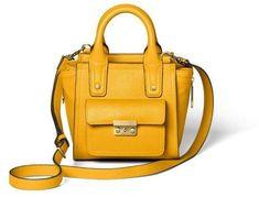 3.1 Phillip Lim for Target Mini Satchel Handbag - 3.1 Phillip Lim for Target Yellow #sponsored #ad #paid   Thank you Target for sponsoring today's post. Black Satchel, Satchel Purse, Satchel Handbags, Purses And Handbags, Phillip Lim Bag, Yellow Handbag, Popular Handbags, Casual Bags