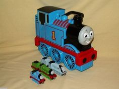 Thomas Tank Train Carry Travel Case 5 Car Spencer Henry Die Cast Magnetic Coal #LearningCurve
