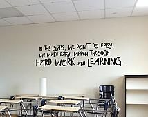 Don't Do Easy Wall Decal