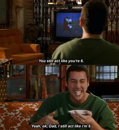 Who else can relate to this one 😂😂 Dating Humor Quotes, Funny Quotes, Daddy Movie, Adam Sandler Movies, Gospel Quotes, Favorite Movie Quotes, Funny Films, Movies Worth Watching, Movie Lines