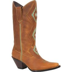 Crush by Durango® Women's Tribal Western Boots have Southwest flair with a refreshing mint green design.  These are a must-have for this fall!