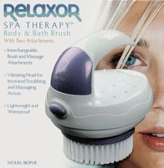 Relaxor Body & Bath Brush Massager with 2 Attachments by Salton. $9.90. Lightweight and waterproof. Ergonamic easy-grip handle. Interchangeable Brush and Massage Attachmetns. Uses 2 AA batteries. Vibrating head for increased scrubbing and massaging action. The Relaxer is a spa therapy body and bath brush. It comes with two attachments and has a vibrating head for increased scrubbing and massaging action.. Save 67% Off!