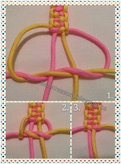 Indian Trail Paracord Bracelet Tutorial- Tap the link now to see our super collection of accessories made just for you!How to make Paracord Bracelet Rainbow is going to make paracord bracelet to her friend.Two color double square Beautiful Bracelet Bracelet Knots, Bracelet Crafts, Paracord Bracelets, Bracelet Making, Survival Bracelets, Knotted Bracelet, Paracord Bracelet Instructions, Paracord Tutorial, Macrame Tutorial