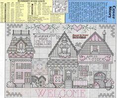 Schema punto croce Welcome House 02