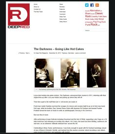 2013: The Darkness - going like hot cakes - Deep Red Magazine