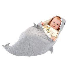 Babydecken - Bio-Fair-Trade-Baby-Hai-Bett - ein Designerstück von BeeZeeEcoLand bei DaWanda