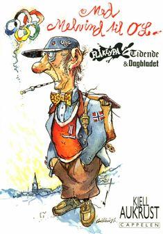 Med Melvind Snerken til OL. Painted Clothes, Ol, Postcards, Decoupage, Barn, Comic Books, Author, Comics, Artist
