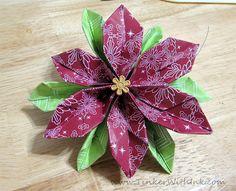 Origami Poinsettia Tutorial