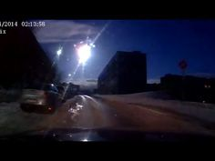 Meteor-like object over Russia's Murmansk caught on dash-cams Published on Apr 19, 2014 Residents of the Kola Peninsula witnessed the fall of a celestial body similar to the famous Chelyabinsk meteorite on Saturday night. It flashed at 02:10 am local time and was clearly seen in the sky. However, no sound of explosions was heard. Officials say that the nature of the celestial body is unknown.