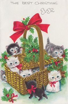 vintage musical greeting card ain't she sweet mouse hallmark Cat Christmas Cards, Christmas Kitten, Christmas Scenes, Noel Christmas, Christmas Animals, Retro Christmas, Christmas Greetings, Xmas, Vintage Christmas Images