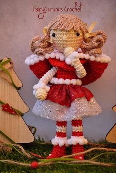Amigurumi - Zelia Christmas doll - tutorial by FairyGurumi's Crochet ♡ lovely…