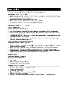 Professional Resume Templates Resume Profile Resume Templates