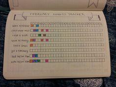 bullet journal  habits tracker