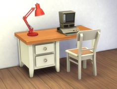 Boring Desk by plasticbox at Mod The Sims via Sims 4 Updates